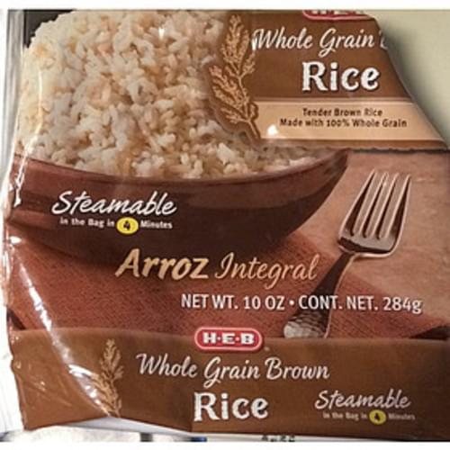 H-E-B Whole Grain Brown Rice - 136 g