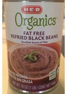 H-E-B Organics Fat Free Refried Black Beans