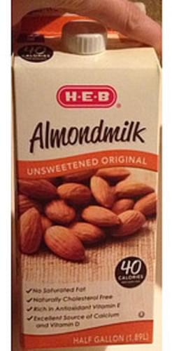 H-E-B Unsweetened Almondmilk - 240 ml
