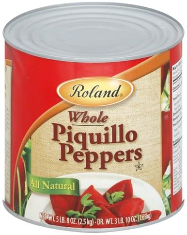 Roland Whole Piquillo Peppers - 88 oz