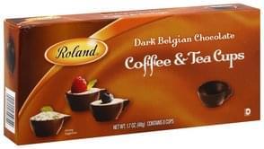 Roland Dark Belgian Chocolate Coffee & Tea Cups