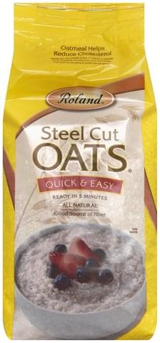 Roland Steel Cut, Quick & Easy Oats - 72 oz