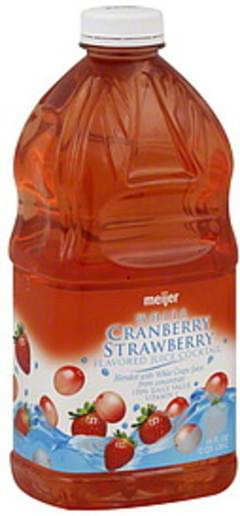 Meijer Juice Cocktail White Cranberry Strawberry Flavored