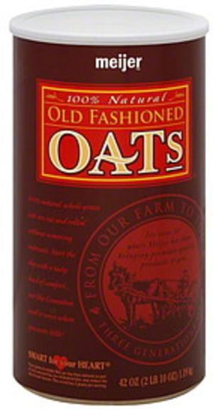 Meijer Old Fashioned Oats - 42 oz