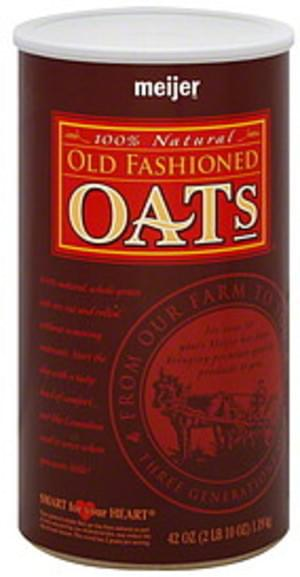 Meijer Old Fashioned Oats - 42 oz