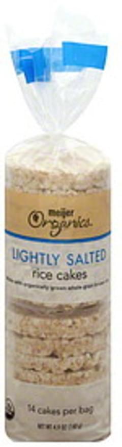 Meijer Organics Rice Cakes Lightly Salted
