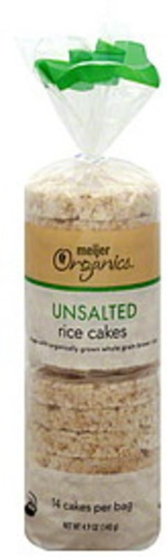 Meijer Organics Rice Cakes Unsalted