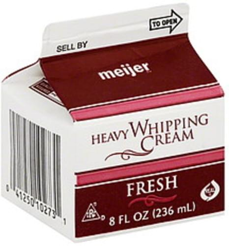 Meijer Heavy Whipping Cream - 8 oz
