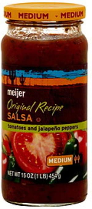 Meijer Tomatoes and Jalapeno Peppers, Medium Original Recipe Salsa - 16 oz