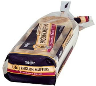 Meijer English Muffins Cinnamon Raisin