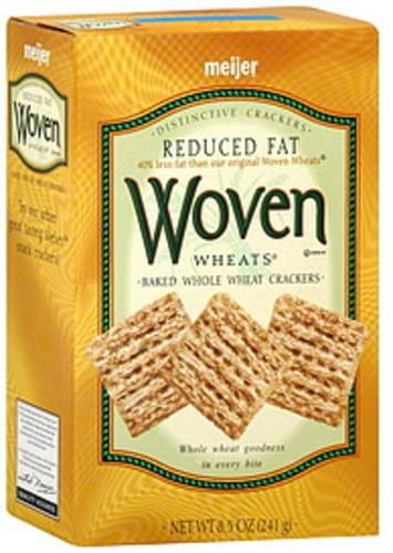 Meijer Reduced Fat, Woven Wheats Crackers - 8.5 oz