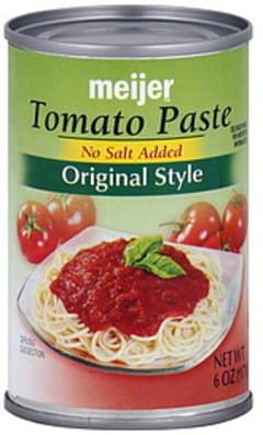 Meijer Tomato Paste Original Style, No Salt Added
