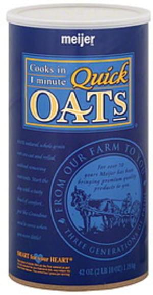 Meijer Quick Oats - 42 oz