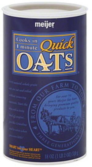 Meijer Quick Oats - 18 oz