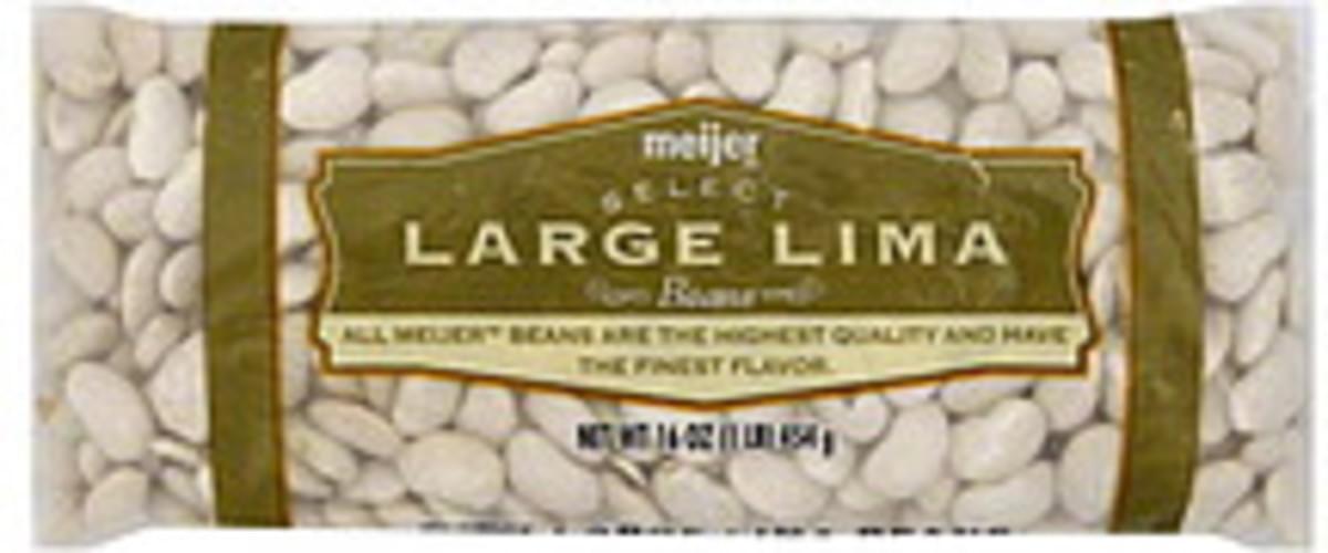 Meijer Large Lima Beans - 16 oz