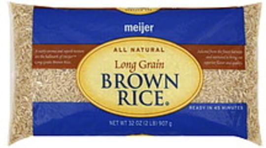 Meijer Brown Rice Long Grain