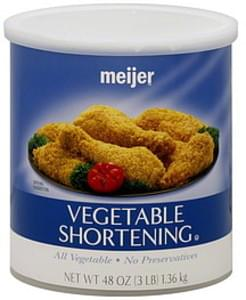Meijer Vegetable Shortening