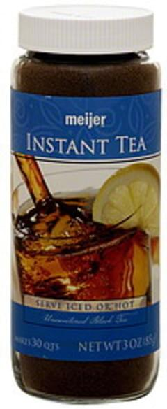 Meijer Instant Tea Unsweetened Black