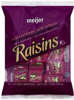 Meijer Raisins California Sun-Dried
