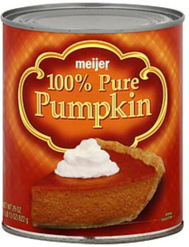 Meijer 100% Pure Pumpkin - 29 oz