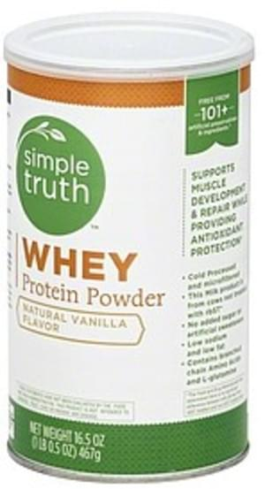 Simple Truth Natural Vanilla Flavor Whey Protein Powder