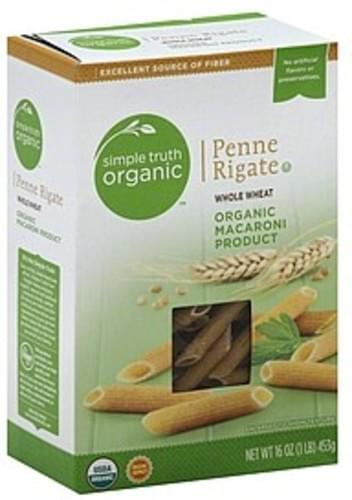 Simple Truth Organic Whole Wheat Penne Rigate - 16 oz