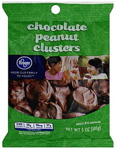 Kroger Chocolate Peanut Clusters - 5 oz