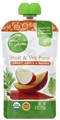 Simple Truth Organic Fruit & Veg Puree Carrot, Apple & Mango, Level 2
