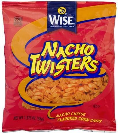 Wise Nacho Cheese, Nacho Twisters Corn Chips - 1.375 oz
