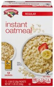 Hannaford Oatmeal Instant, Regular