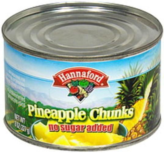 Hannaford Chunks Pineapple  - 8 oz