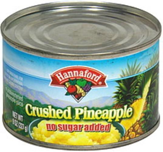 Hannaford Crushed Pineapple - 8 oz