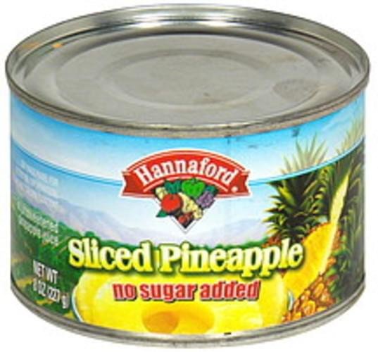 Hannaford Sliced Pineapple - 8 oz