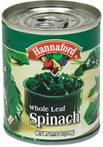 Hannaford Whole Leaf Spinach - 7.75 oz