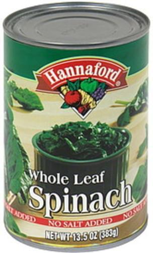 Hannaford Whole Leaf Spinach - 13.5 oz