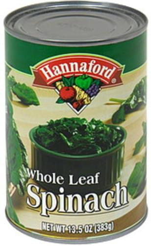 Hannaford Whole Leaf Spinach - 13.5 oz