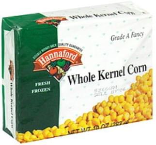 Hannaford Whole Kernal Corn Frozen Fresh