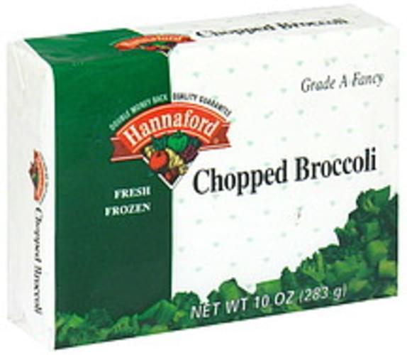 Hannaford Fresh Frozen Chopped Broccoli - 10 oz
