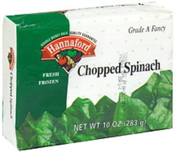 Hannaford Fresh Frozen Chopped Spinach - 10 oz