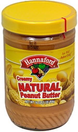 Hannaford Creamy Natural Peanut Butter - 16 oz