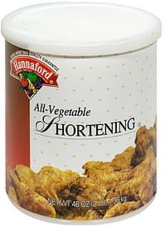 Hannaford All-Vegetable Shortening