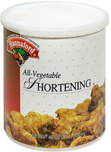 Hannaford All-Vegetable Shortening - 48 oz