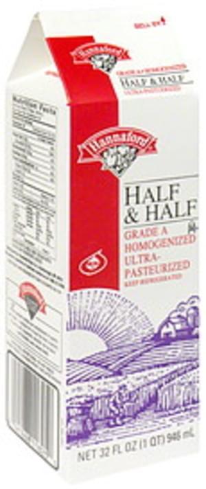 Hannaford Half & Half - 32 oz