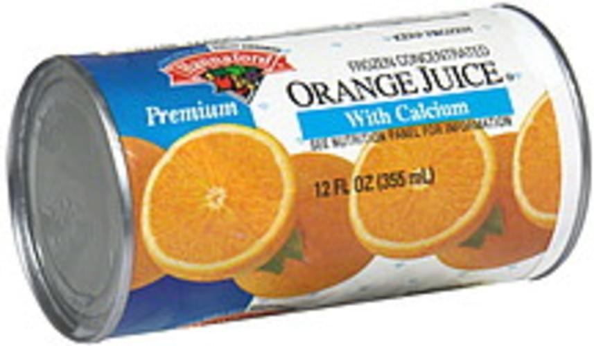 Hannaford Orange Juice with Calcium Frozen Concentrate - 12 oz