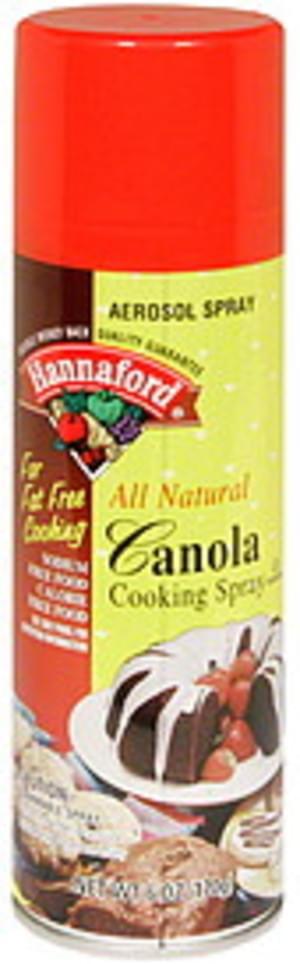 Hannaford Aerosol, Canola Cooking Spray - 6 oz