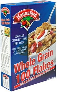 Hannaford Cereal Whole Grain 100 Flakes, Whole Grain Wheat & Brown Rice Cereal