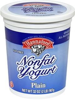 Hannaford Nonfat Yogurt Plain