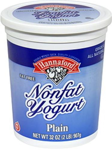 Hannaford Plain Nonfat Yogurt - 32 oz