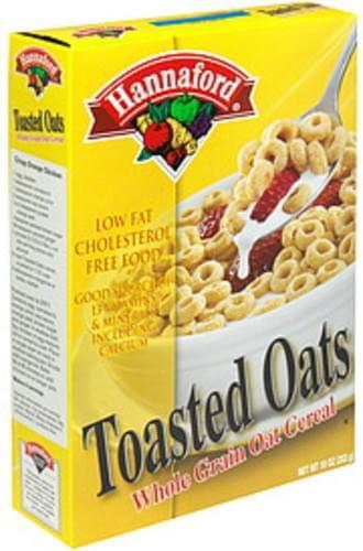 Hannaford Whole Grain Oat Cereal Toasted Oats - 10 oz
