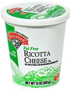 Hannaford Ricotta Cheese Fat Free